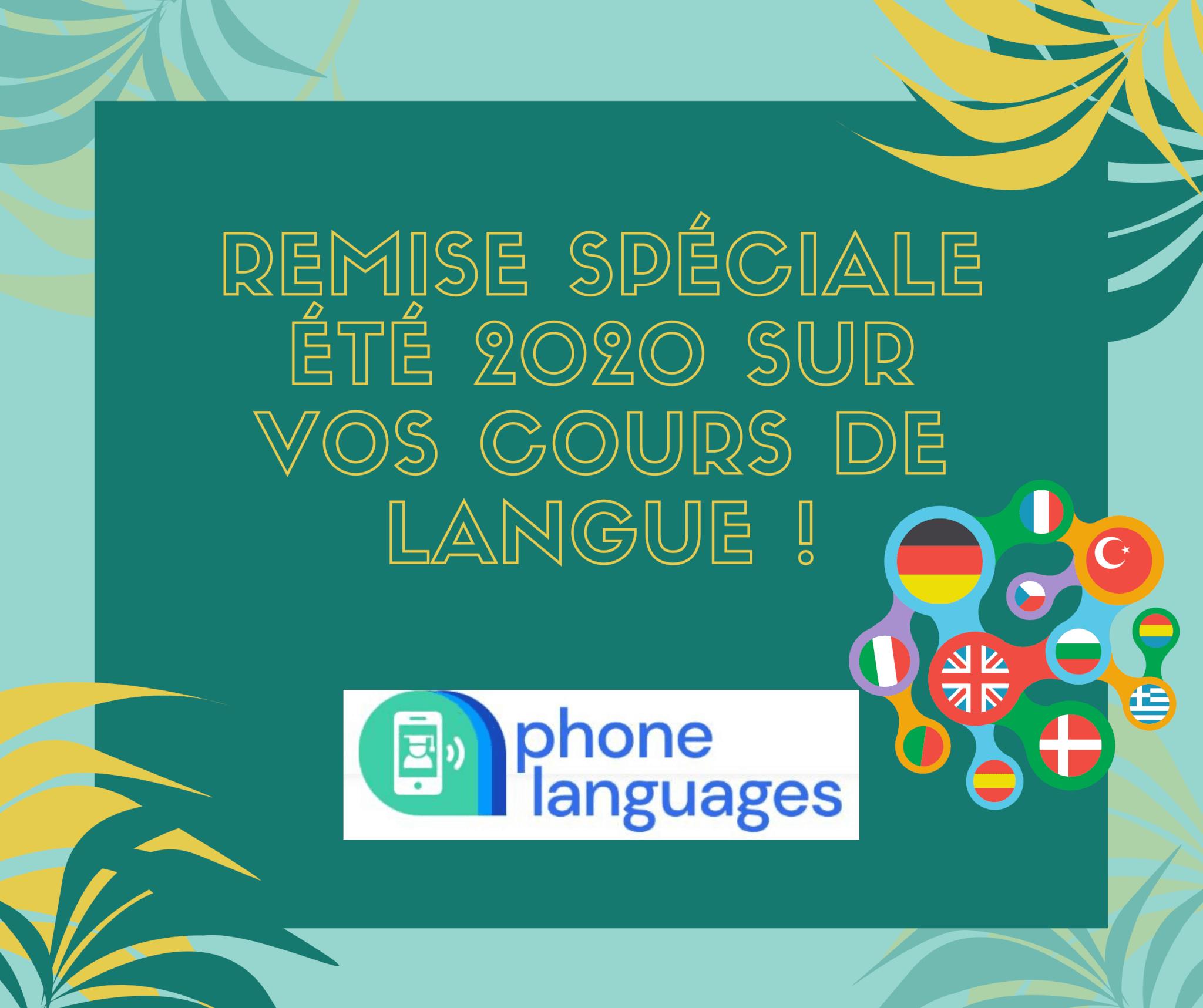 Remise spéciale été 2020 sur vos cours de langue !